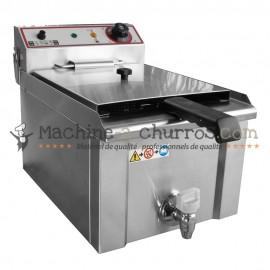 Petite friteuse professionnelle en Inox de capacité 9 litres - Acier inoxydable 18/8