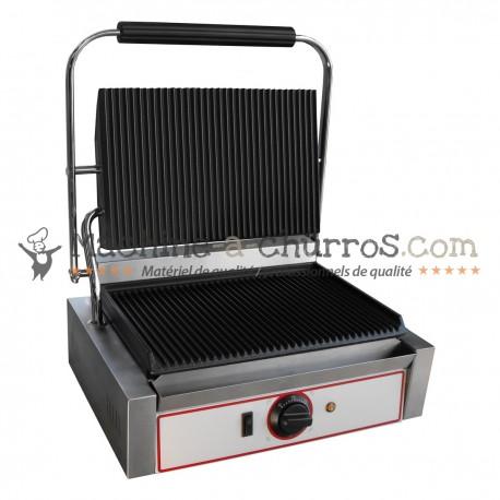 Grill professionnel en Inox pour snack 2200W - Acier inoxydable 18/8