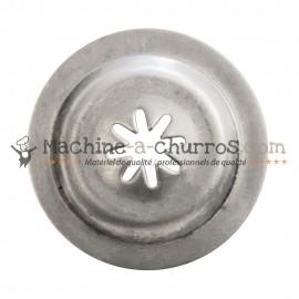 Buse petite étoile pour machine à churros Ø 38mm - Acier inoxydable 18/8