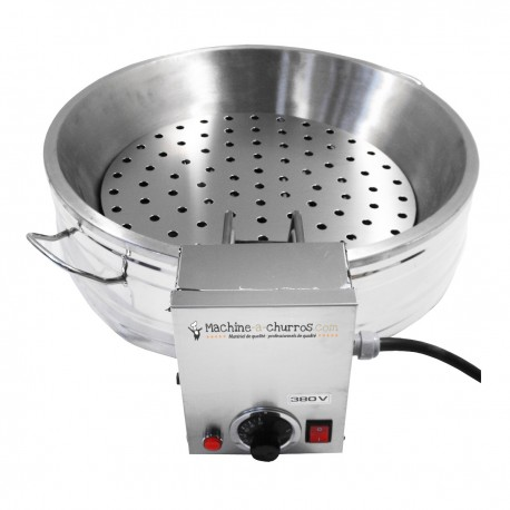Pack cuisson churros en Inox : Résistance 10000W + Bac 14L + Grille - Acier inoxydable 18/8