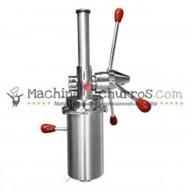 Doseur à churros en Inox avec système de coupe manuel 3 KG - Acier inoxydable 18/8